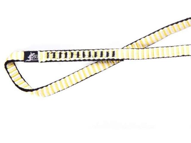 Fixe Dyneema Sangle d'escalade 80cm, yellow/white
